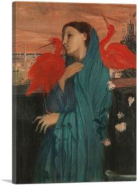 Young Woman with Ibis 1862