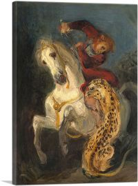 Rider Attacked by a Jaguar 1855
