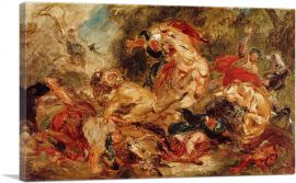 Study for The Lion Hunt 1854