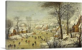 Winter Landscape With Scaters and a Bird Trap 1565