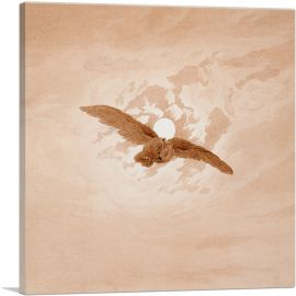 Owl Flying Against a Moonlit Sky 1837