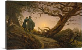 Two Men Contemplating the Moon 1825