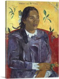 Woman With a Flower - Vahine no te Tiare 1891