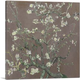 Branches with Almond Blossom - Brown Square 1890