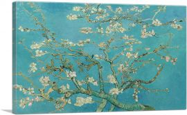 Branches with Almond Blossom - Teal Rectangle 1890