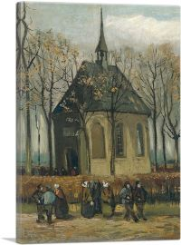 Congregation Leaving the Reformed Church of Nuenen 1885