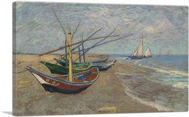 Fishing Boats on the Beach at Saintes-Maries 1888