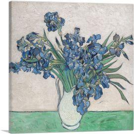 Irises in White Pitcher 1890