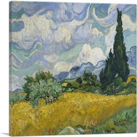 A Wheatfield with Cypresses - Square 1889