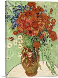 Red Poppies and Daisies 1890