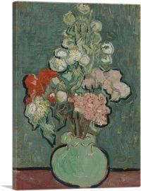 Still Life Vase With Rose-Mallows 1890