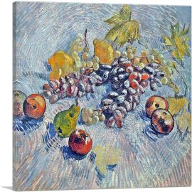 Still Life with Grapes, Apples, Lemons and Pear 1887