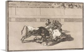 A Picador Is Unhorsed and Falls under the Bull 1816