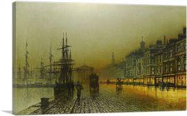 Greenock Harbour at Night 1893