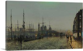 Hull Docks at Night 1880