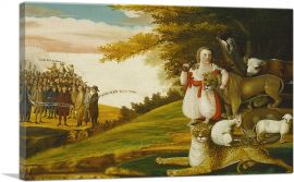 A Peaceable Kingdom with Quakers Bearing Banners 1829