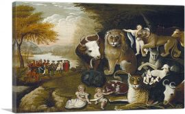 Peaceable Kingdom With Bull 1833