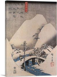 A Bridge in a Snowy Landscape