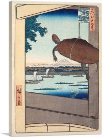 Mannen Bridge - Fukagawa 1857