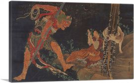 A Priest Practicing the Tantra, a Demon Before Him, and a Wolf Behind