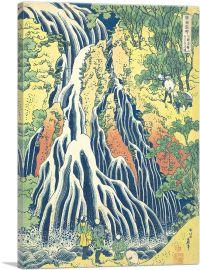 Pilgrims at Kirifuri Waterfall on Mount Kurokami in Shimotsuke 1831