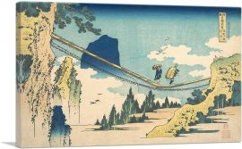 The Suspension Bridge on the Border of Hida and Etchu Provinces 1830