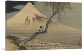 Boy Viewing Mount Fuji 1839