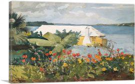 Flower Garden and Bungalow - Bermuda 1899