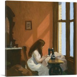 Girl at Sewing Machine 1921