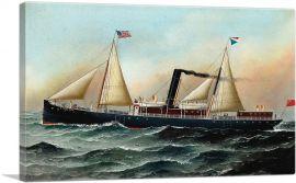 The British Sail and Steam Ship Ethelred at Sea