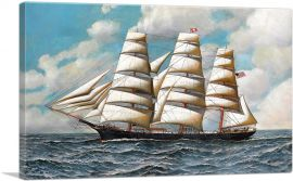 The Clipper Young America Under Full Sail