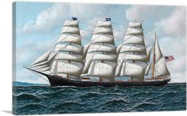 The Four Master Barque Roanoke Under Full Sail