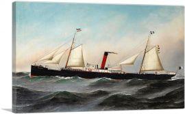 The S.S. Oevenum at Sea