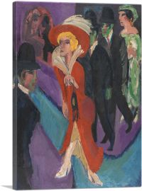 Street With Red Streetwalker 1914