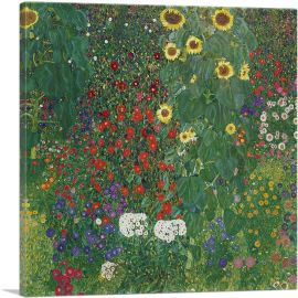 Farm Garden with Flowers 1906