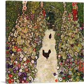 Garden with Roosters 1917