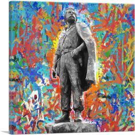 Adem Jashari Monument Unoffical Anthem Colorful Graffiti Kosovo