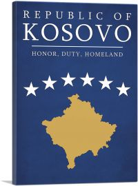 Republic of Kosovo Honor Duty Homeland Motto