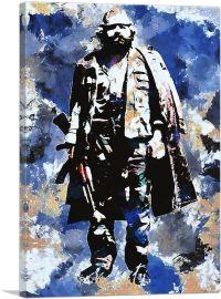 Adem Jashari Liberation Army Founder Blue Background Kosovo