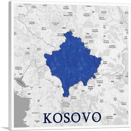Kosovo on World Map