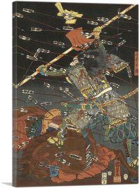 Samurai Going Against a Storm of Arrows 1847