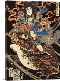 Tenjiku Tokubei Riding a Giant Toad
