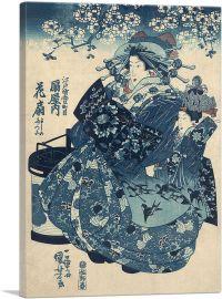 The Courtesan Hanao Of Ogi-Ya By Utagawa Kuniyoshi