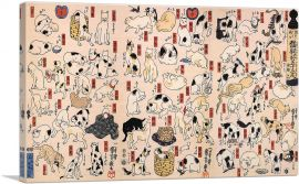 Cats From Fifty-Three Stations of the Tokaido