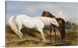 Portrait of an Arab Mare With Her Foal 1825