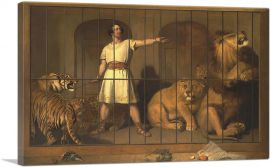 Portrait of Mr. Van Amburgh As He Appeared with His Animals 1847
