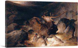 Deer And Deer Hounds In A Mountain Torrent 1832