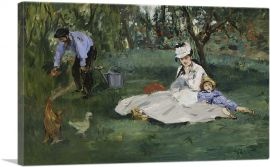 The Monet Family in Their Garden at Argenteuil 1874