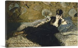 Woman with Fans 1873