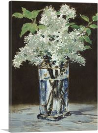 White Lilacs in a Crystal Vase 1883